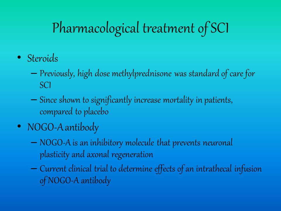 Pharmacological treatment of SCI