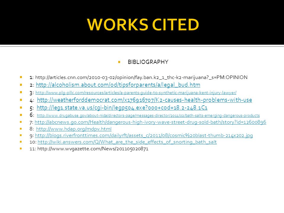 WORKS CITED BIBLIOGRAPHY