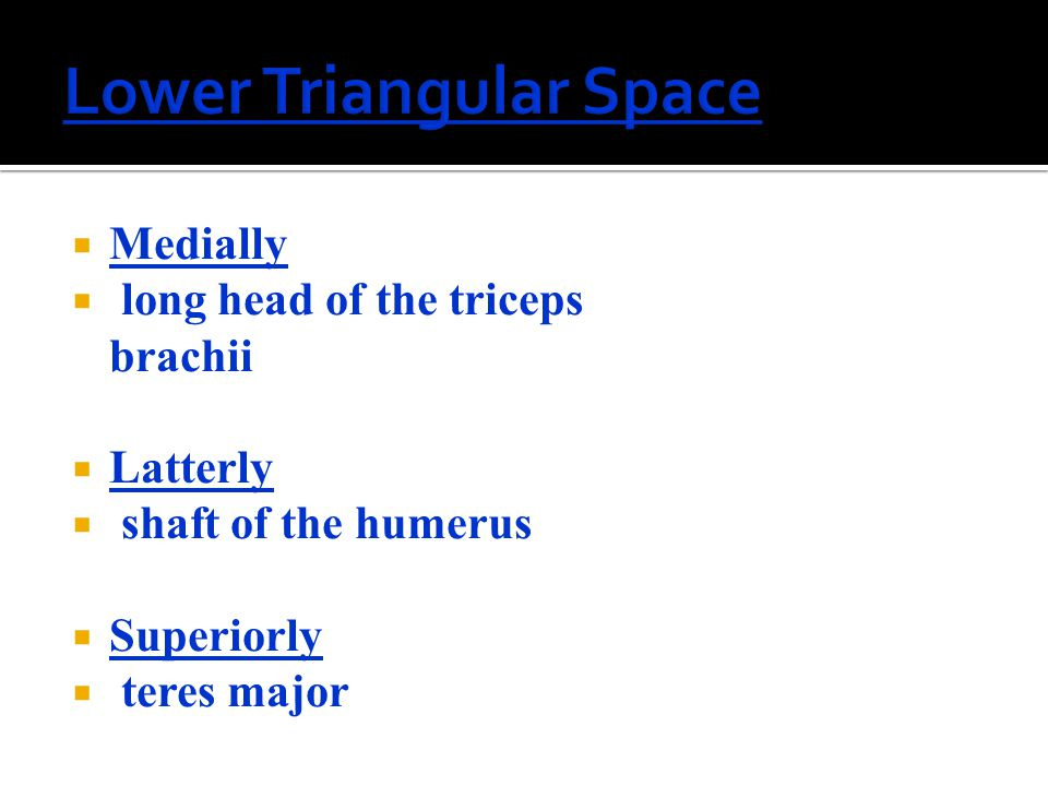 Lower Triangular Space