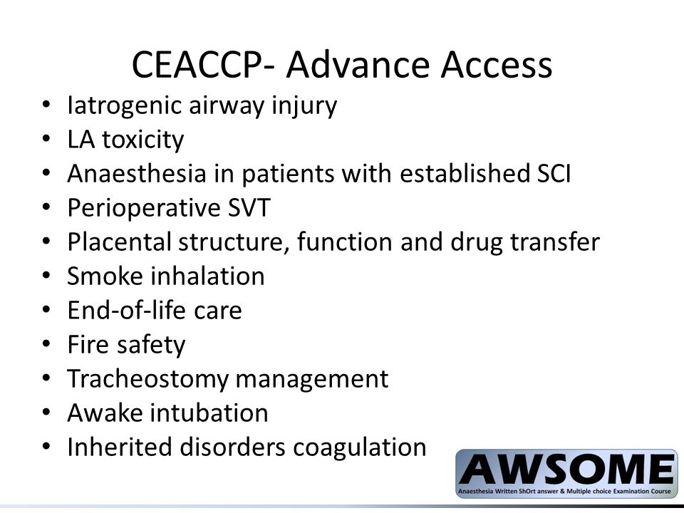 CEACCP- Advance Access
