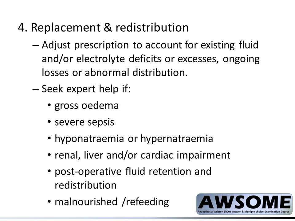4. Replacement & redistribution