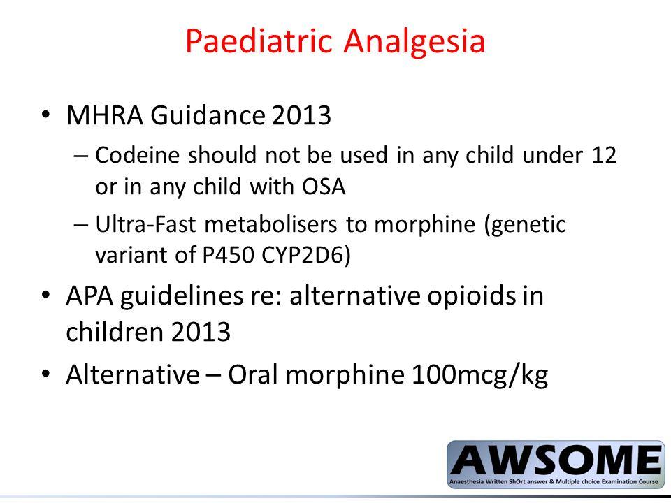 Paediatric Analgesia MHRA Guidance 2013