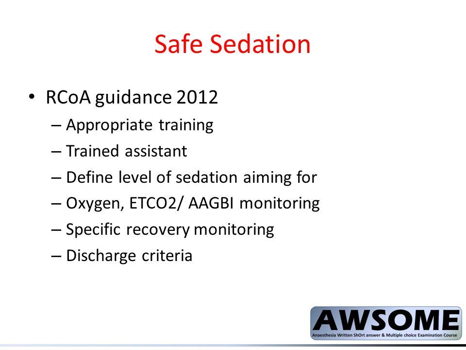 Safe Sedation RCoA guidance 2012 Appropriate training