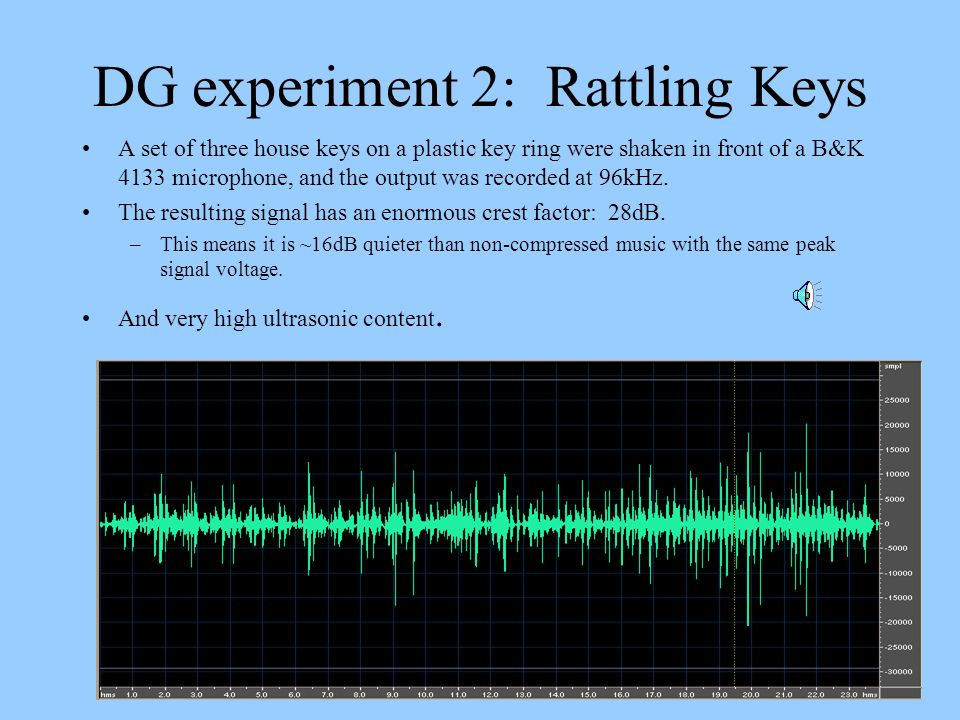 DG experiment 2: Rattling Keys