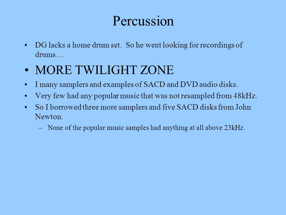 Percussion MORE TWILIGHT ZONE