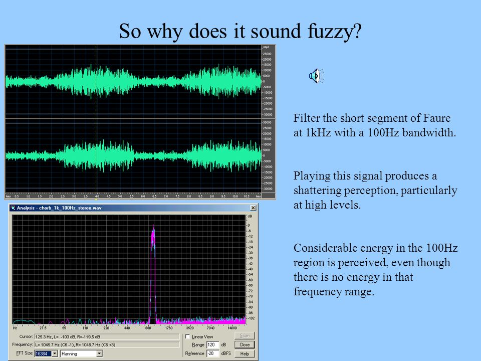 So why does it sound fuzzy