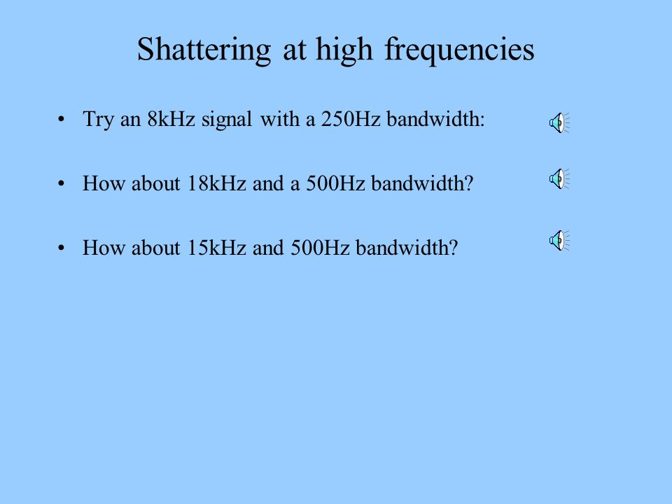 Shattering at high frequencies
