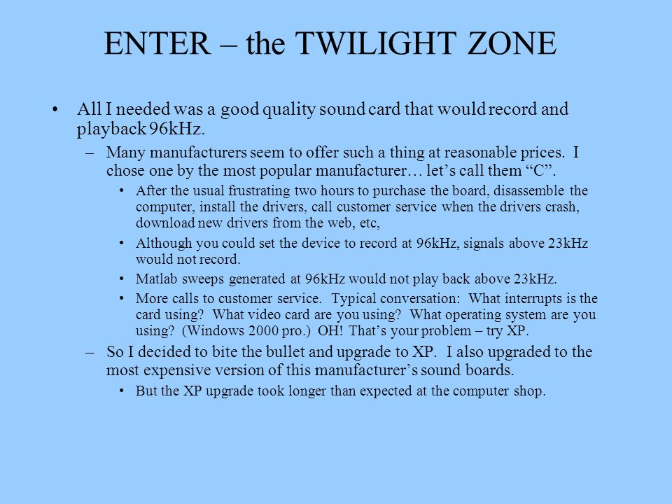 ENTER – the TWILIGHT ZONE