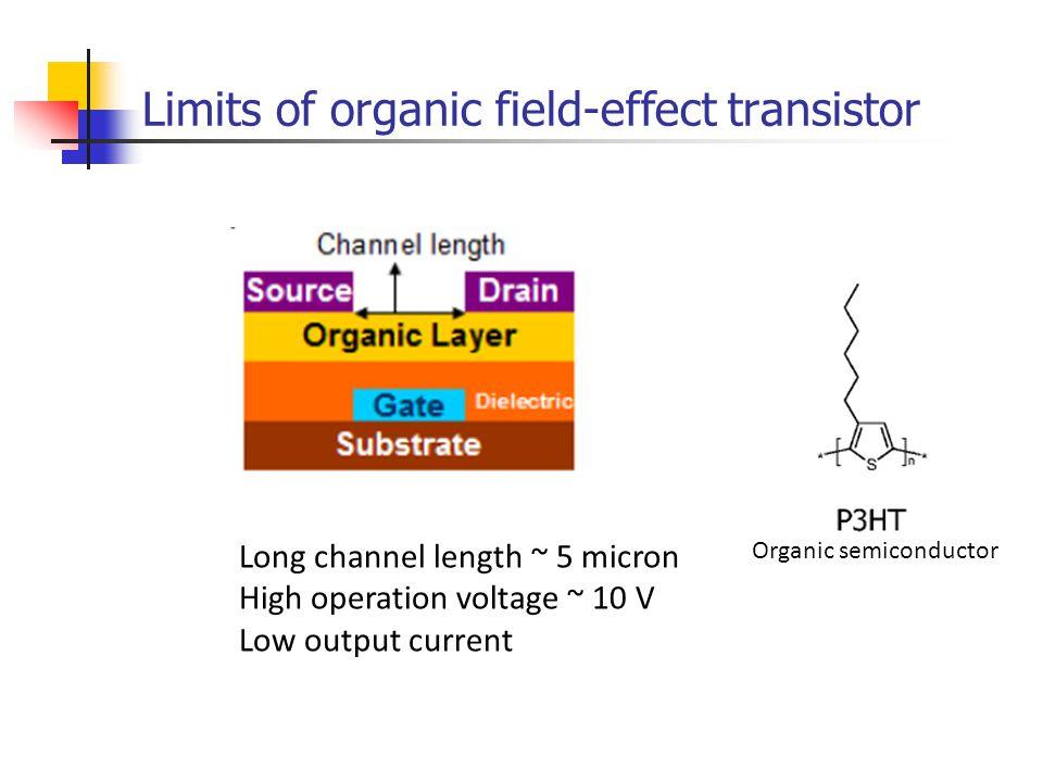 Limits of organic field-effect transistor
