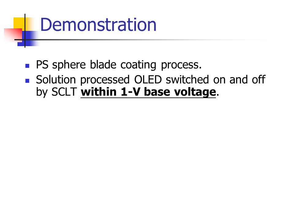 Demonstration PS sphere blade coating process.