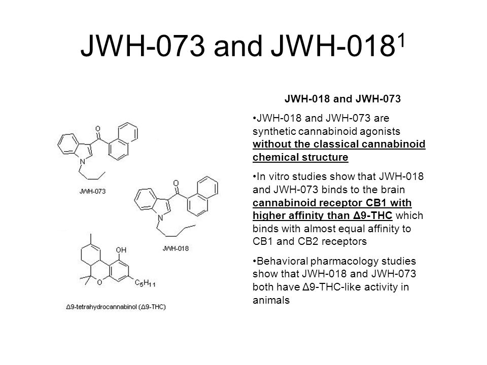 JWH-073 and JWH-0181 JWH-018 and JWH-073