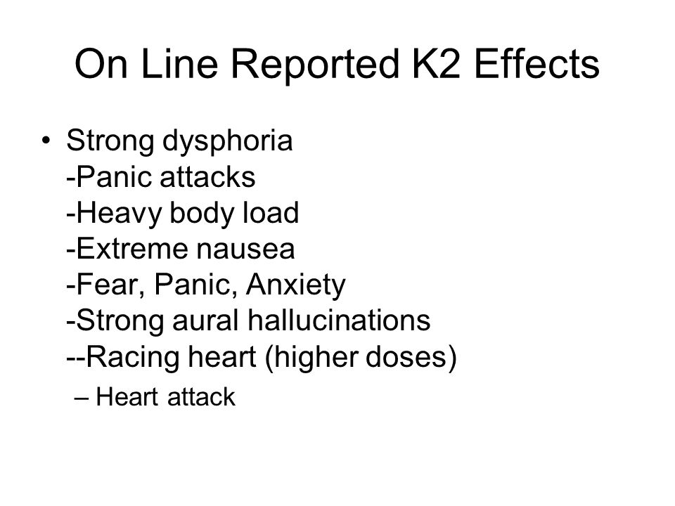 On Line Reported K2 Effects