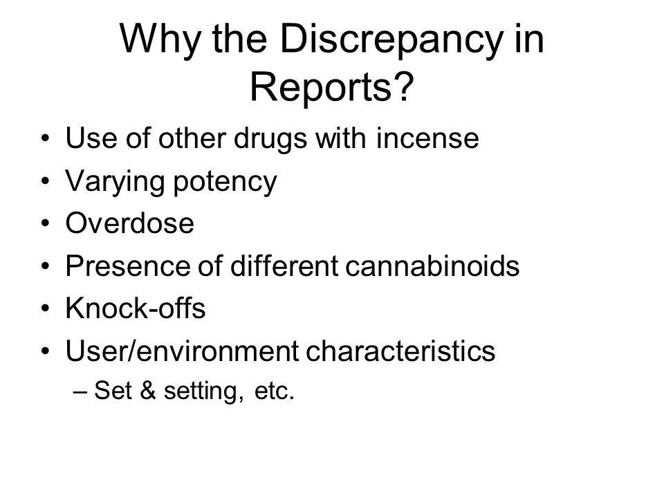 Why the Discrepancy in Reports