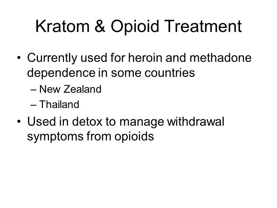 Kratom & Opioid Treatment