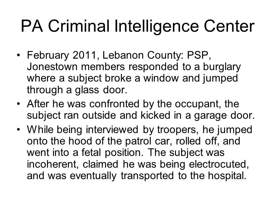 PA Criminal Intelligence Center