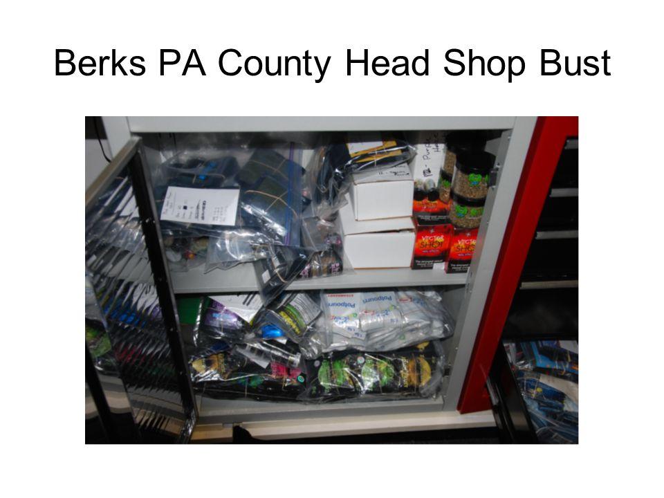 Berks PA County Head Shop Bust