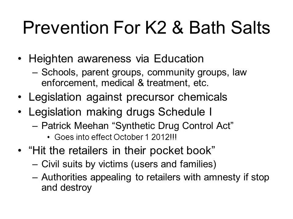 Prevention For K2 & Bath Salts