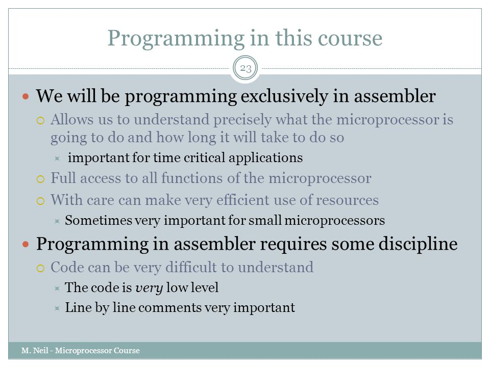 Programming in this course