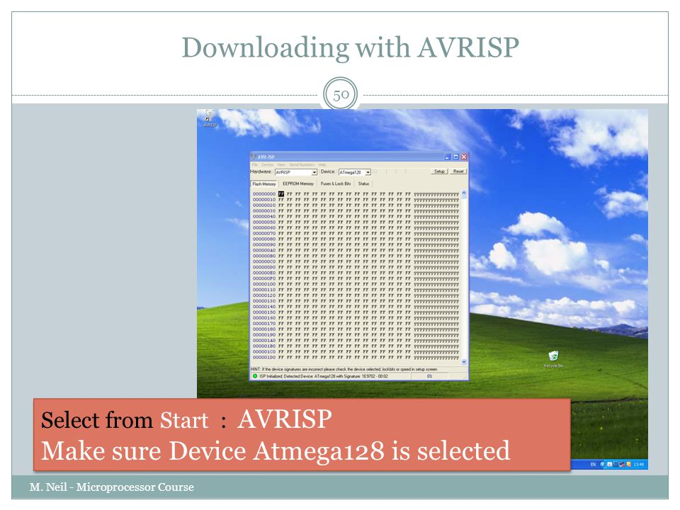 Downloading with AVRISP