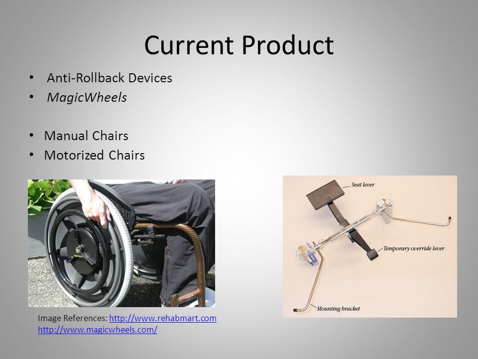 Current Product Anti-Rollback Devices MagicWheels Manual Chairs
