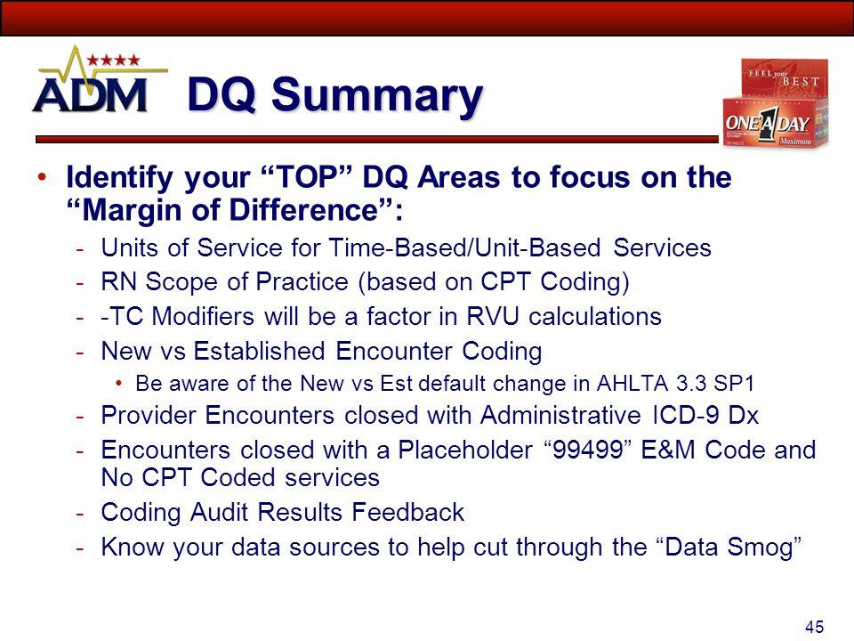 TMA Data Quality Course - ADM