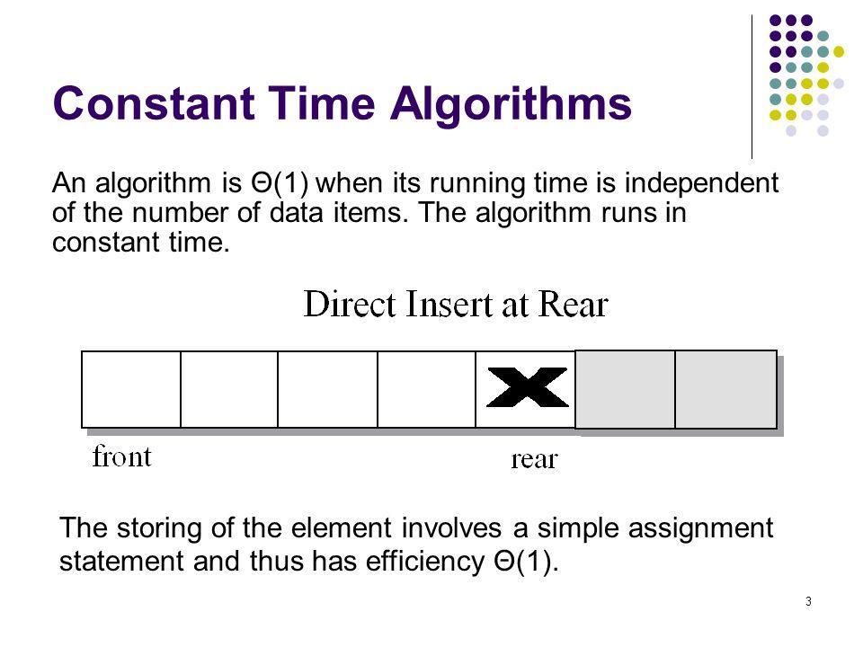 Constant Time Algorithms