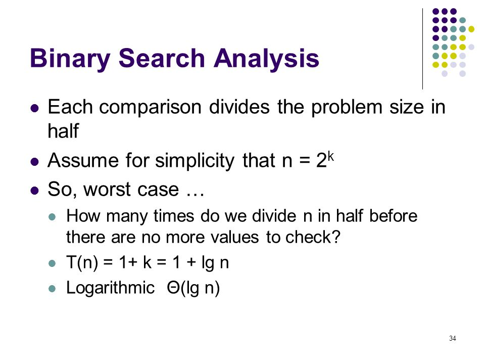Binary Search Analysis