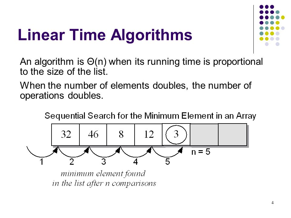 Linear Time Algorithms