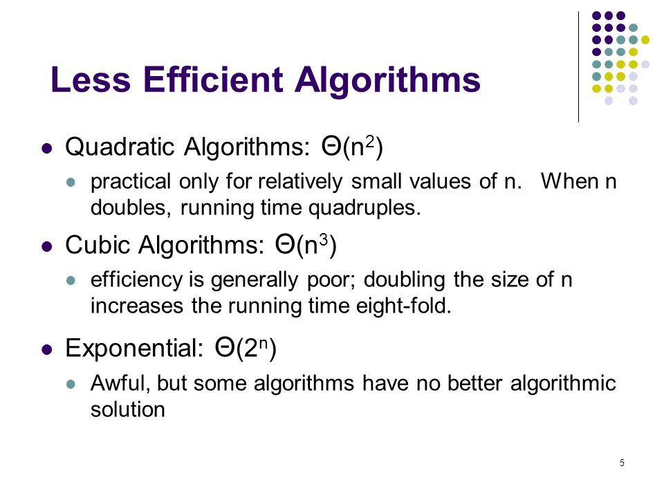 Less Efficient Algorithms