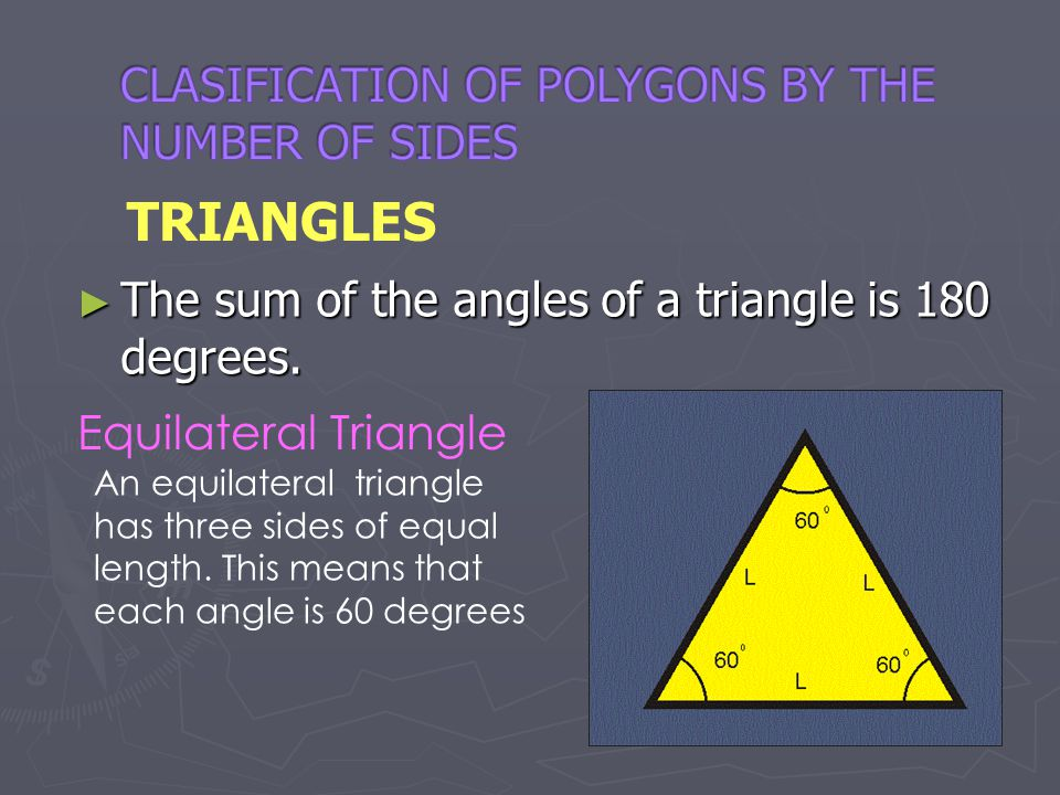 CLASIFICATION OF POLYGONS BY THE NUMBER OF SIDES