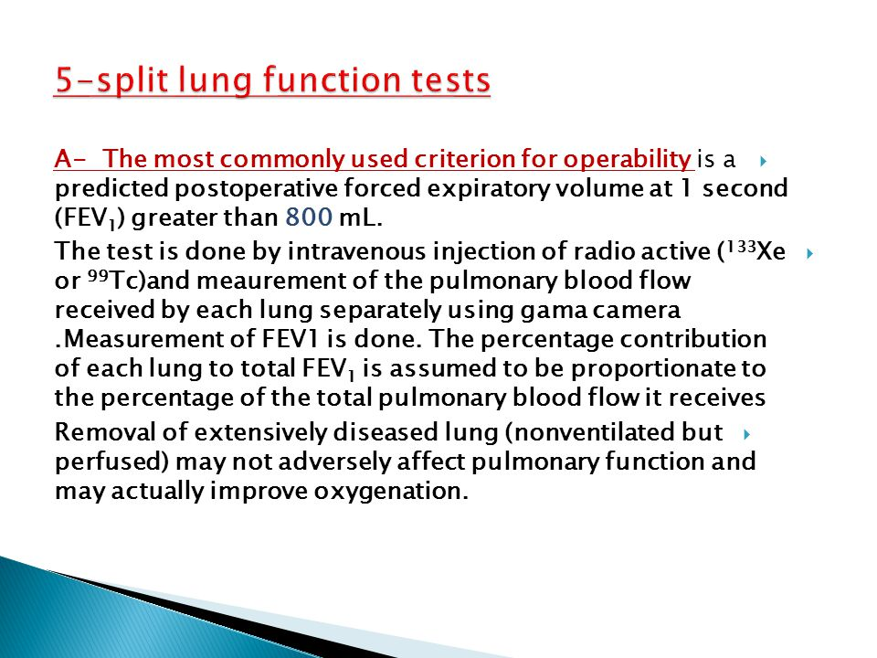5-split lung function tests
