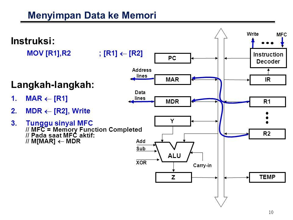 Menyimpan Data ke Memori