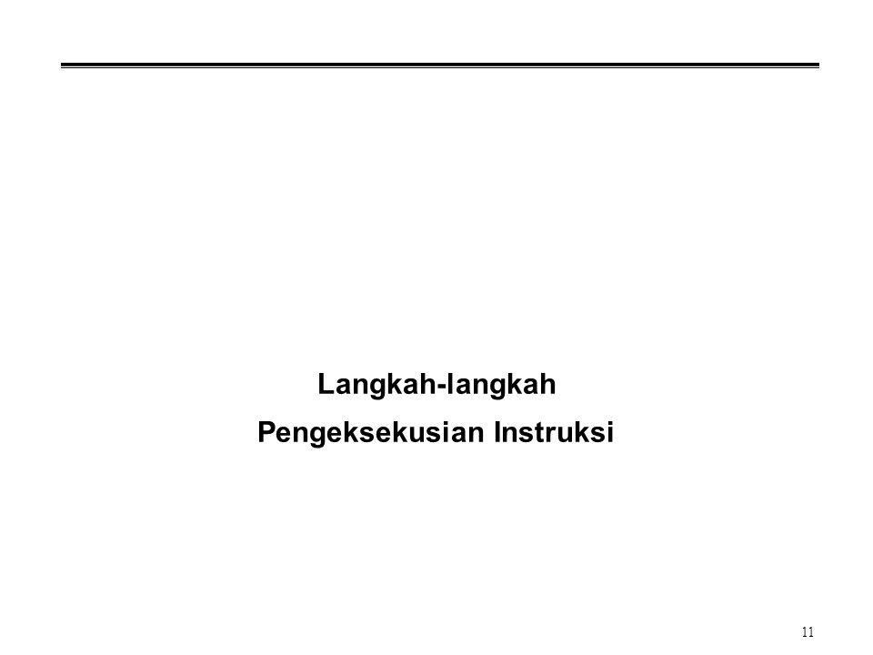 Langkah-langkah Pengeksekusian Instruksi
