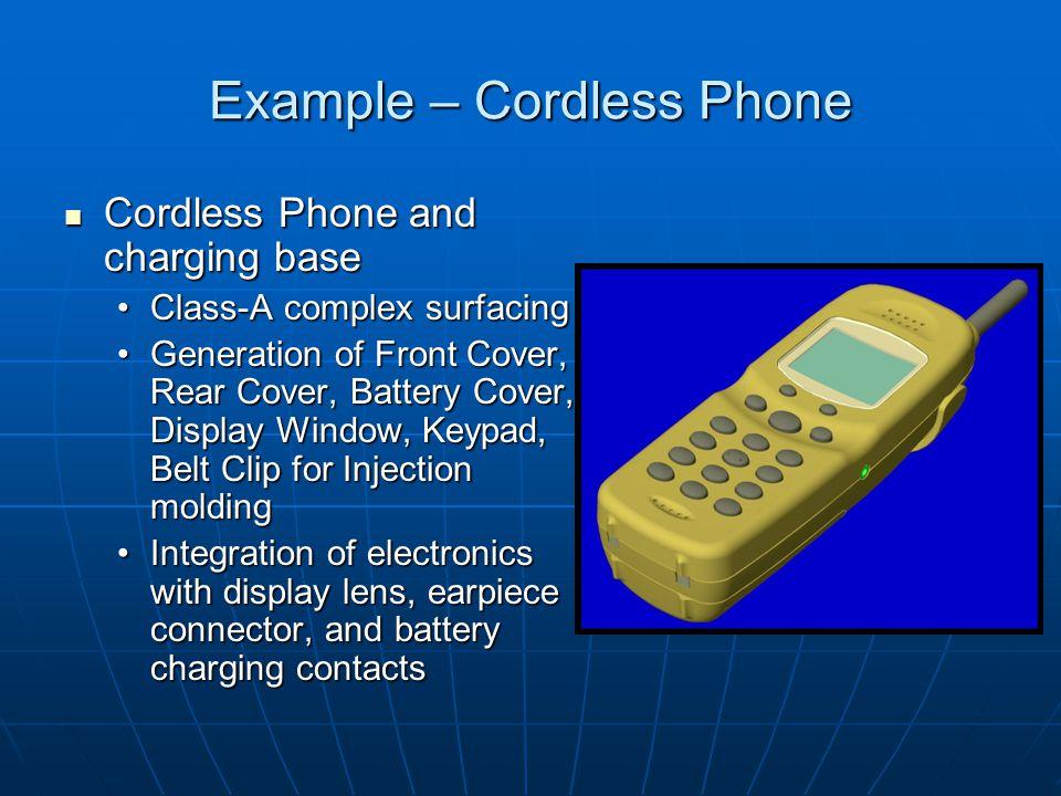 Example – Cordless Phone