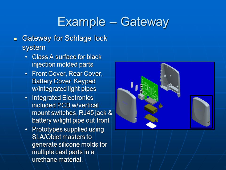 Example – Gateway Gateway for Schlage lock system