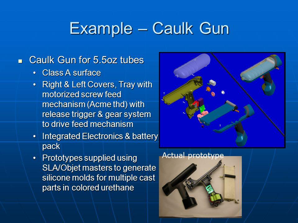 Example – Caulk Gun Caulk Gun for 5.5oz tubes Class A surface