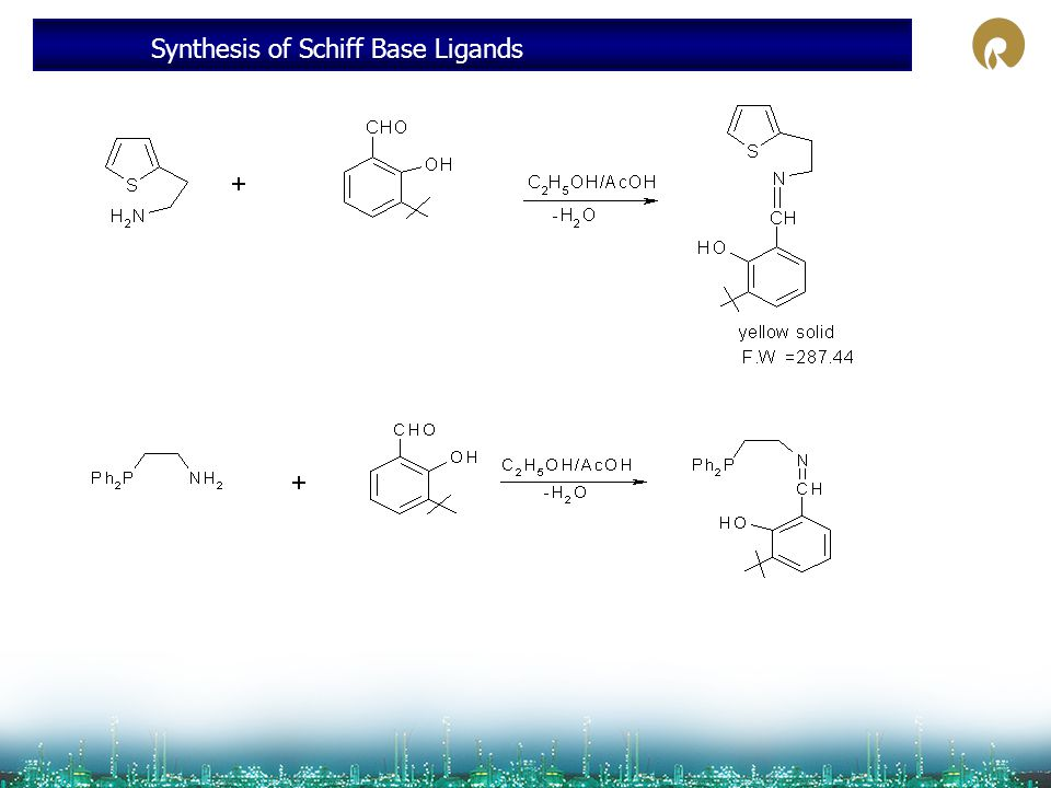 Synthesis of Schiff Base Ligands