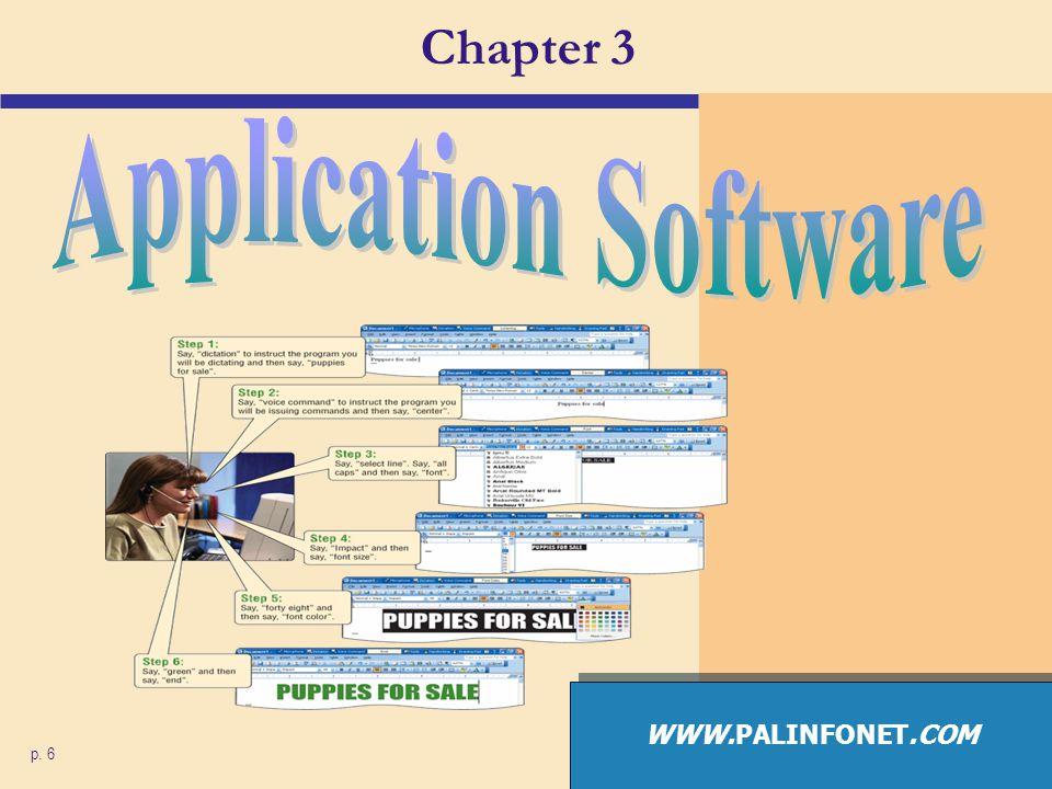 Chapter 3 Application Software WWW.PALINFONET.COM p. 6
