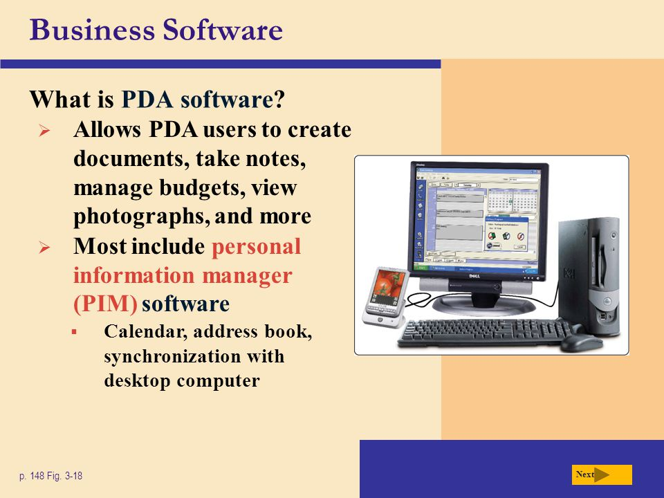 Business Software What is PDA software