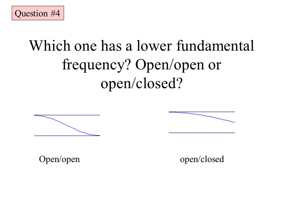 Which one has a lower fundamental frequency Open/open or open/closed
