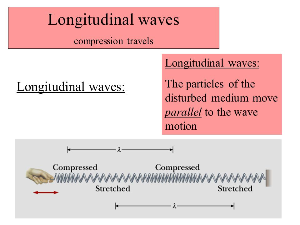 Longitudinal waves Longitudinal waves: Longitudinal waves: