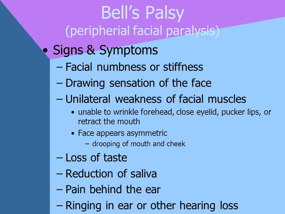 Bell's Palsy (peripherial facial paralysis)