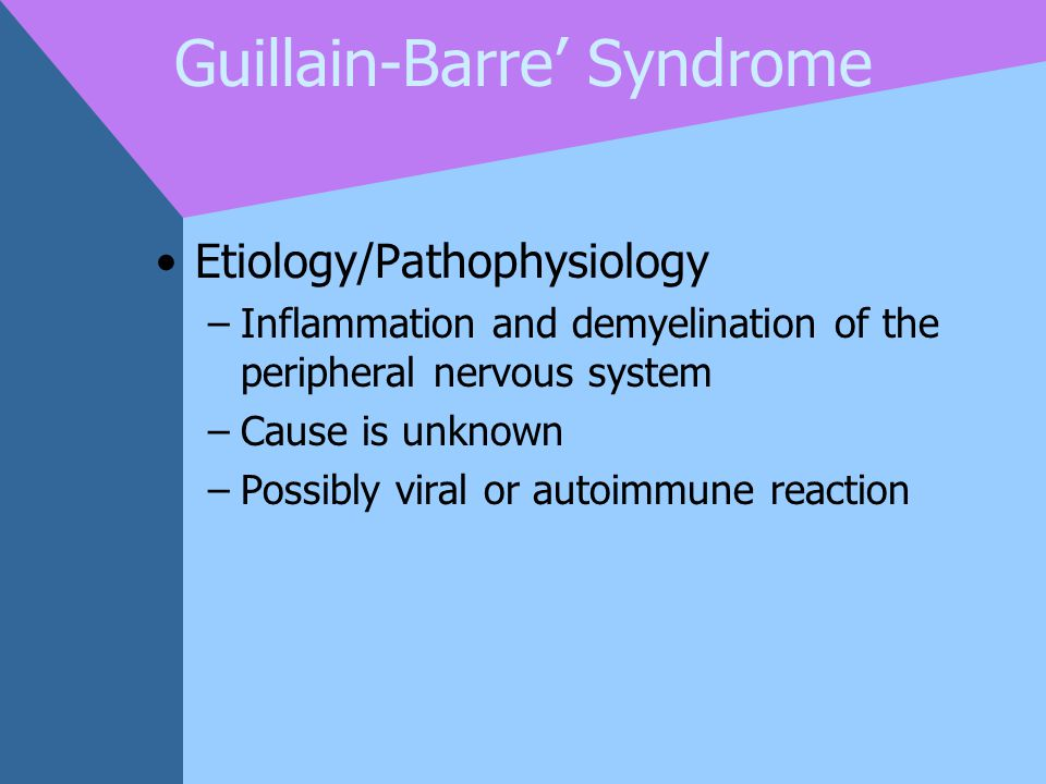 Guillain-Barre' Syndrome