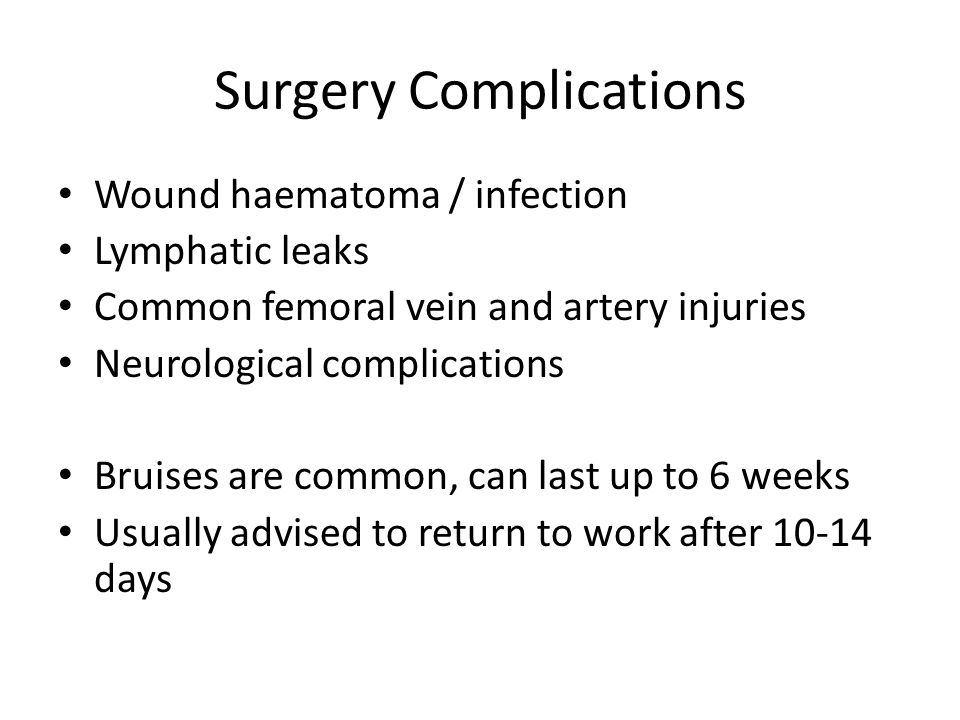 Surgery Complications