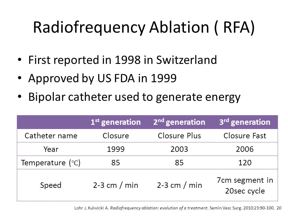 Radiofrequency Ablation ( RFA)