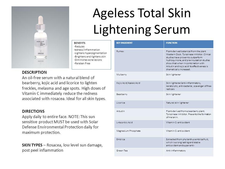 Ageless Total Skin Lightening Serum