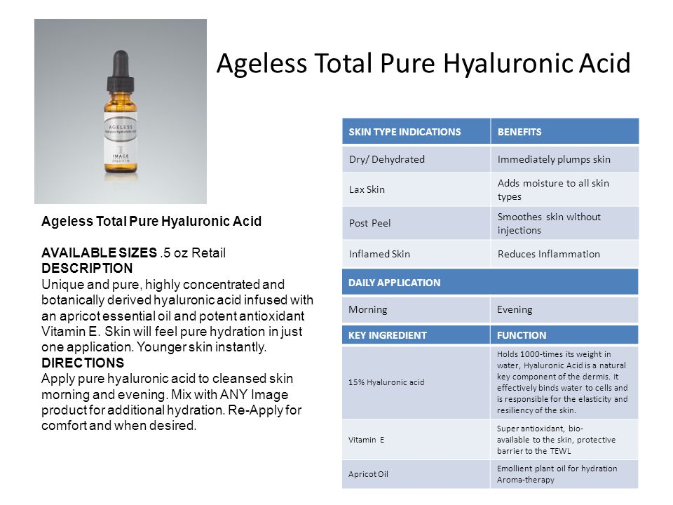 Ageless Total Pure Hyaluronic Acid
