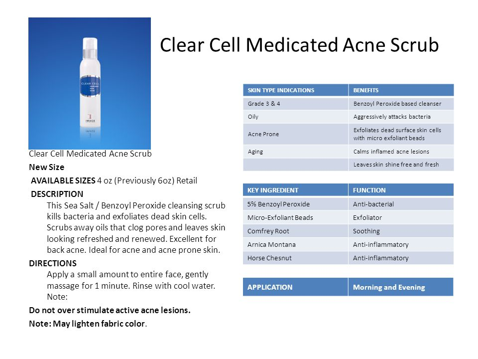 Clear Cell Medicated Acne Scrub