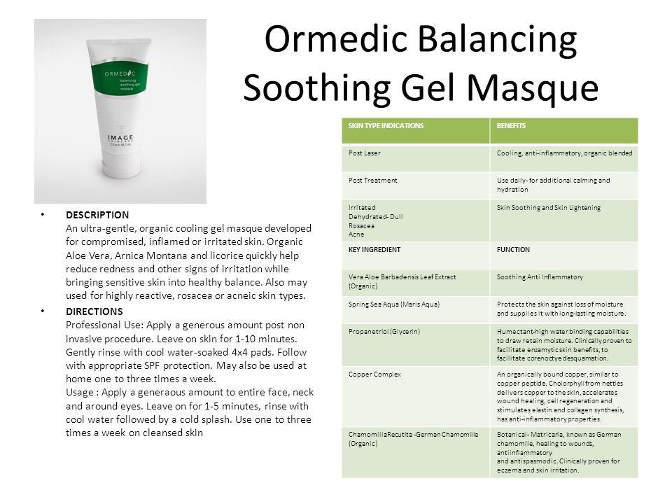 Ormedic Balancing Soothing Gel Masque
