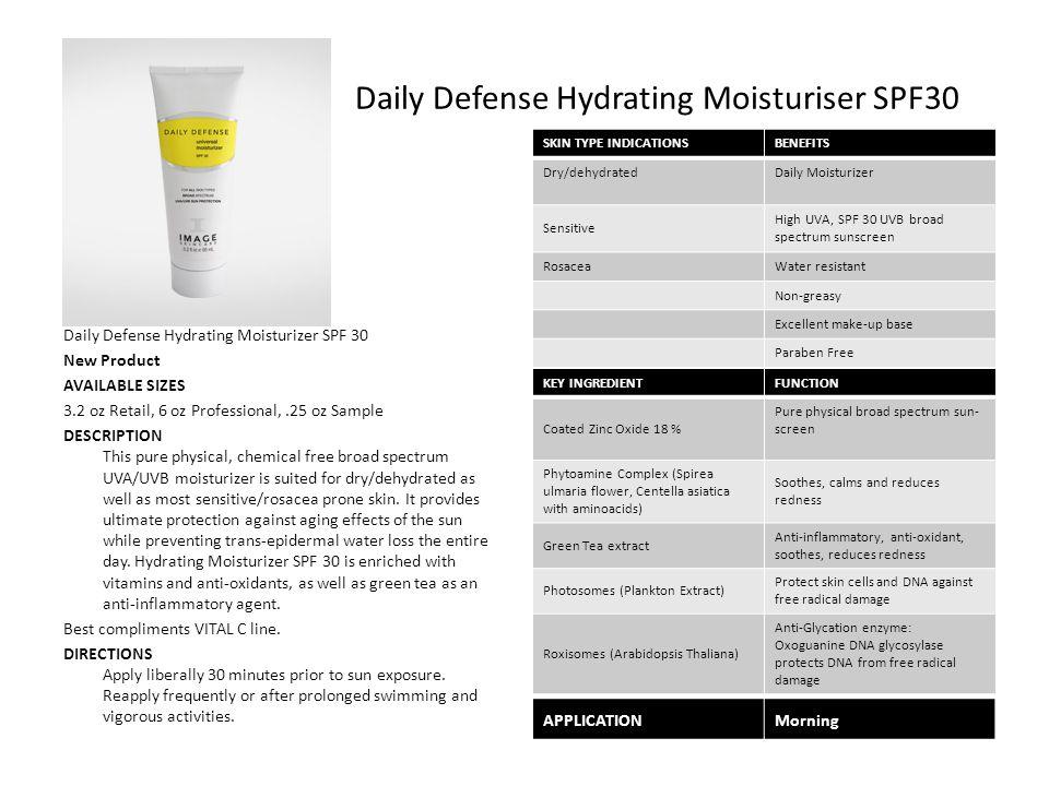 Daily Defense Hydrating Moisturiser SPF30